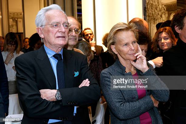 Journalists Philippe labro and Christine Ockrent attend the Prize Winning Ceremony for the 'Prix JeanLuc Lagerdere du Journaliste de l'Annee' Held at...