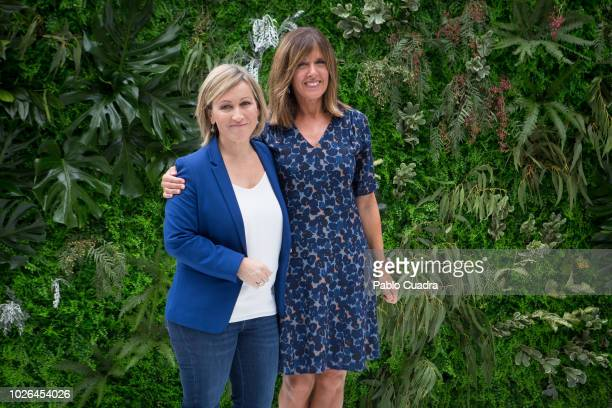 Journalists Raquel Gonzalez and Ana Blanco attends the RTVE News team presentation on September 3 2018 in Madrid Spain