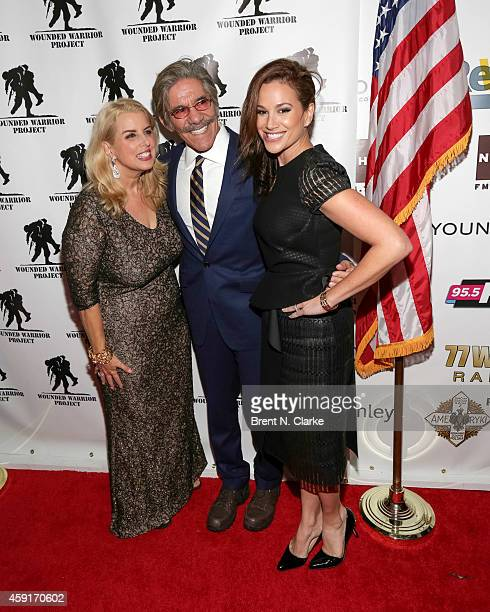 Journalists Rita Cosby Geraldo Rivera and wife Erica Michelle Levy arrive for the 2014 Wounded Warrior Project Benefit at The Edison Ballroom on...