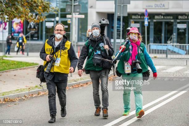 Journalists seen during 2020 IAAF World Half Marathon Championships in Gdynia