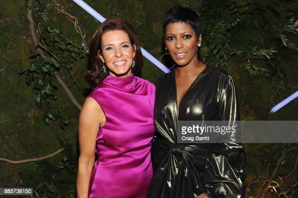 Journalists Stephanie Ruhle and Tamron Hall attend The Bloomberg 50 Celebration at Gotham Hall on December 4 2017 in New York City