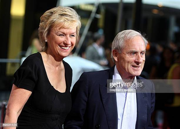 Journalists Tina Brown and Harold Evans attend the Julie Julia premiere at the Ziegfeld Theatre on July 30 2009 in New York City