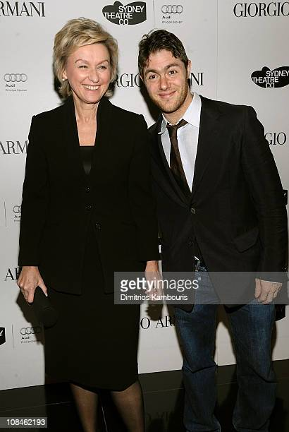 Journalists Tina Brown and Jacob Bernstein attend a welcome dinner for the Sydney Theatre Company at Armani Ristorante on November 23 2009 in New...
