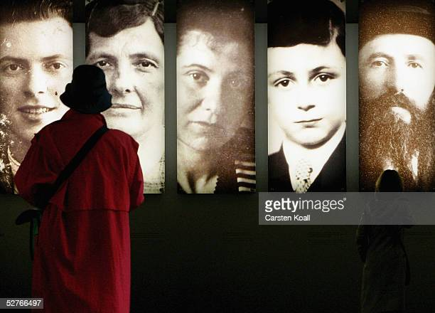 Journalists visit the information center of the Holocaust Memorial to the Murdered Jews of Europe on May 6 2005 in Berlin Germany Sixty years after...