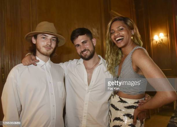 """Journalists/Influencers Baptiste Morel, Yanis Bargoin and Kevhoney Scarlett attend """" Mauboussin Private Party Hosted by """"Select vu First Production""""..."""