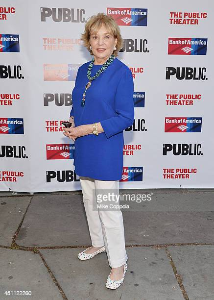 """Journalist/Television personality Barbara Walters attends the Public Theater's 2014 Gala celebrating """"One Thrilling Combination"""" on June 23, 2014 in..."""
