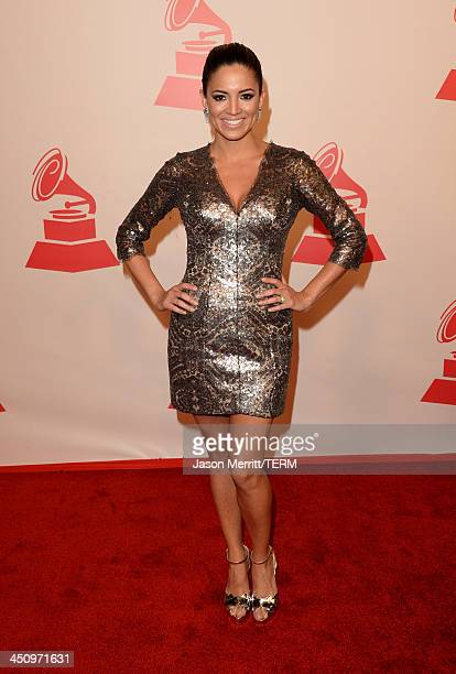 Journalist/tv personality Pamela Silva Conde arrives at the 2013 Latin Recording Academy Person Of The Year honoring Miguel Bose at the Mandalay Bay...