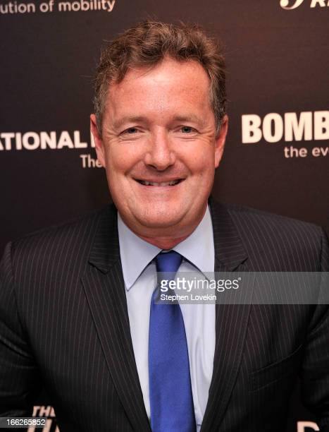 Journalist/TV personality Piers Morgan attends The Hollywood Reporters 35 Most Powerful People In Media at Four Seasons Grill Room on April 10, 2013...