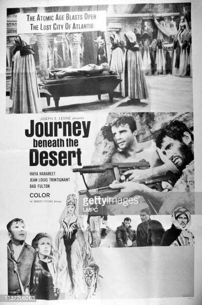 Journey Beneath The Desert poster poster bottom left JeanLouis Trintignant Haya Harareet 1961
