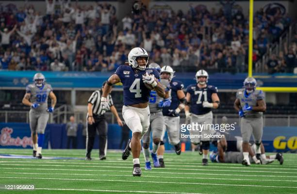 Journey Brown of the Penn State Nittany Lions during the Goodyear Cotton Bowl Classic at ATT Stadium on December 28 2019 in Arlington Texas