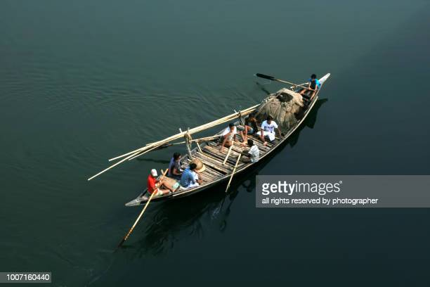 journey for fishing - fishing in bangladesh stock photos and pictures