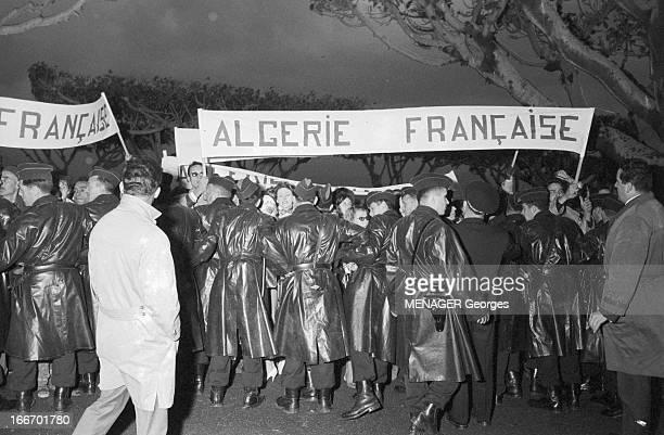 Journey Of De Gaulle In Algeria Algérie 13 décembre 1960 En Kabylie à Bejaia lors du voyage du général DE GAULLE tension et déploiement des forces de...