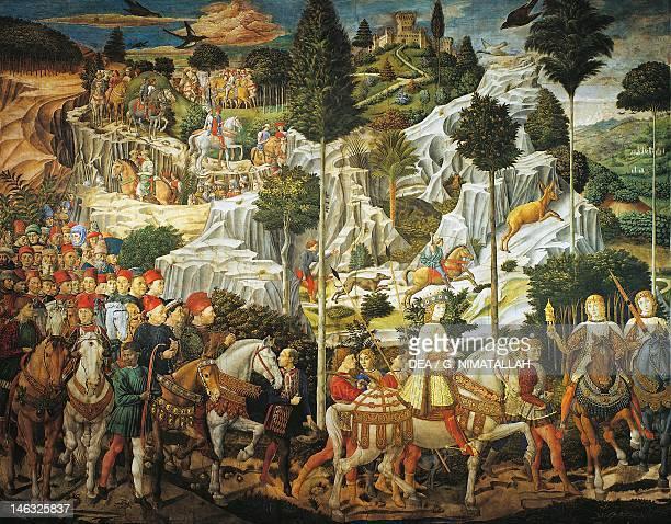 Journey of the Magi by Benozzo Gozzoli fresco Chapel of Palazzo Medici Riccardi Florence