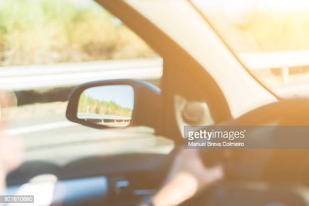 journey - green car crash stock photos and pictures