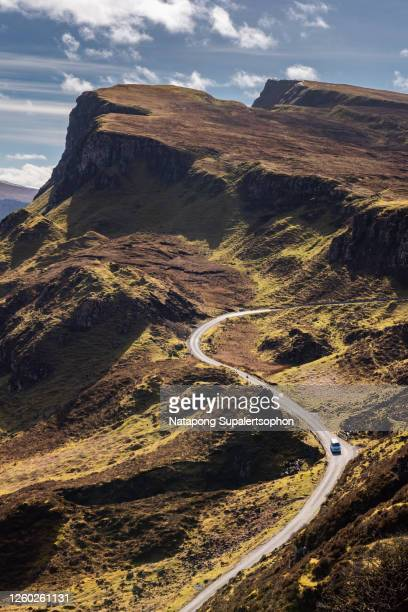 journey to beautiful landscape scenery of scottish highlands. - scotland stock pictures, royalty-free photos & images