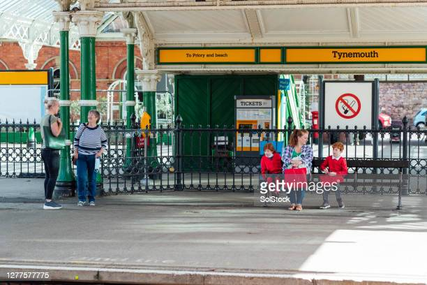 journey to school - railway station stock pictures, royalty-free photos & images