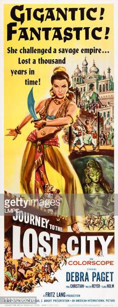 Journey To The Lost City poster US poster art Debra Paget 1959
