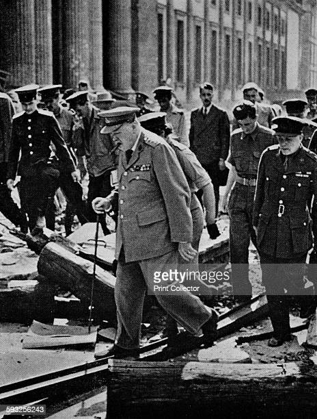 Journey's end Dunkirk to Berlin an inevitable progress of retributive justice Churchill inspecting the ruins of Hitler's Chancellory' 1945 In July...