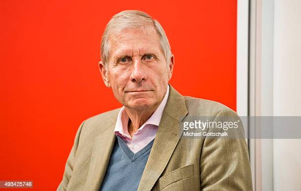Journlist Ulrich Wickert attends a panel discussion at Frankfurt Book Fair on October 16 2015 in Frankfurt Germany