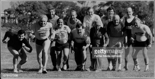 Steve SkinnerVeteran runners in the City to SurfRight to Left Front Row Lawson Garland Hopkins Summerhayes Tisdale Whitmot WorrallBack Row Heinecke...
