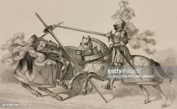 Jousting tournament at the time of Louis XII France engraving by Lemaitre from France troiseme partie L'Univers pittoresque published by Firmin Didot...
