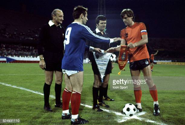 Jovan Acimovic of Yugoslavia and Ruud Krol of Holland during the European Championship for the 3rd place between Holland and Yugoslavia in Stadium...