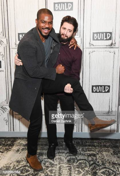 Jovan Adepo and John Magaro attend the Build Series to discuss the film 'Overlord' at Build Studio on October 24 2018 in New York City