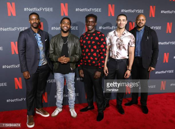 Jovan Adepo Jharrel Jerome Chris Chalk Freddy Miyares and Justin Cunningham attend the Netflix When They See Us FYSEE Event at Raleigh Studios on...