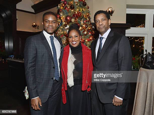 """Jovan Adepo, Pauletta Washington, and Denzel Washington attend the """"Fences"""" New York Screening - After Party at Tavern on the Green in New York City..."""