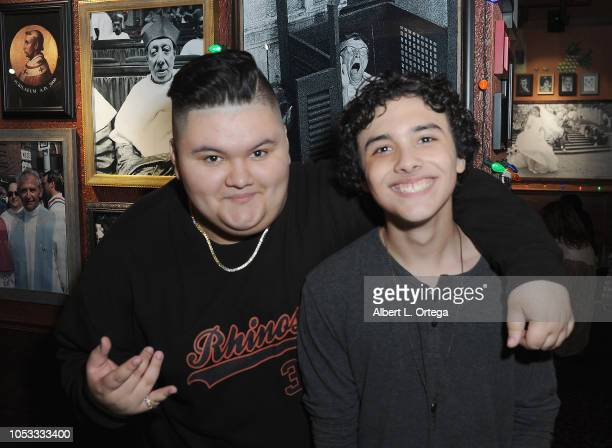 Jovan Armand and Hunter Payton attend the 14th Birthday Party For Actor Hunter Payton held at Buca di Beppo @The Grove on October 24 2018 in Los...