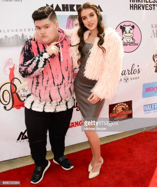 Jovan Armand and Lilimar arriving at Teen Recording Artist Mahkenna's Sweet 16/Expect2Win Extravaganza at ANC Productions on March 26 2017 in Burbank...