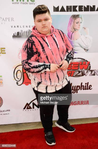 Jovan Armand arrives at Teen Recording Artist Mahkenna's Sweet 16/Expect2Win Extravaganza at ANC Productions on March 26 2017 in Burbank California