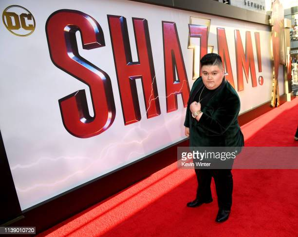 Jovan Armand arrives at the world premiere of Warner Bros Pictures and New Line Cinema's SHAZAM at TCL Chinese Theatre on March 28 2019 in Hollywood...