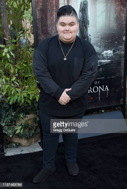 Jovan Armand attends the Premiere Of Warner Bros' The Curse Of La Llorona at the Egyptian Theatre on April 15 2019 in Hollywood California
