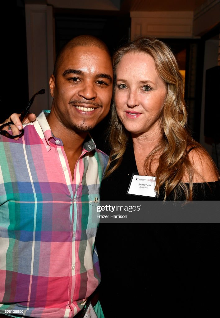Jovan Bowles and Jennifer Salke, attend BBBSLA And The Hollywood Reporter's Women In Entertainment Mentor Reunion Cocktail Reception at Private Residence on October 5, 2017 in Los Angeles, California.