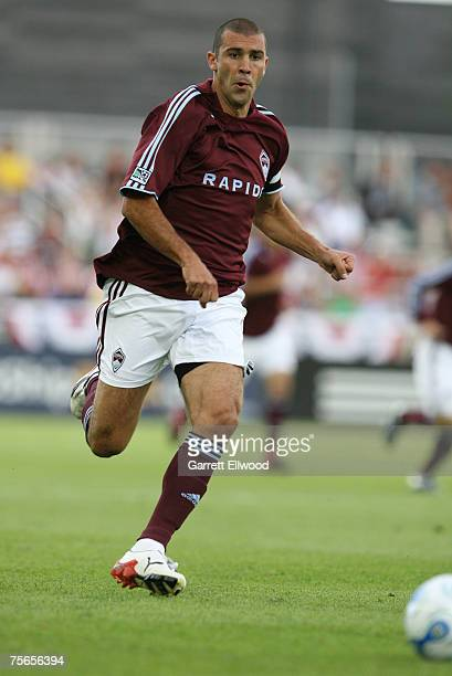 Jovan Kirovski of the Colorado Rapids during the MLS match against the Columbus Crew on July 4 2007 at Dick's Sporting Goods Park in Commerce City...