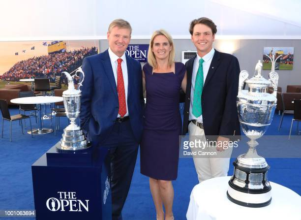 Jovan Rebula of South Africa the 2018 British Amateur Champion poses with his uncle Ernie Els of South Africa two time winner of the Open...