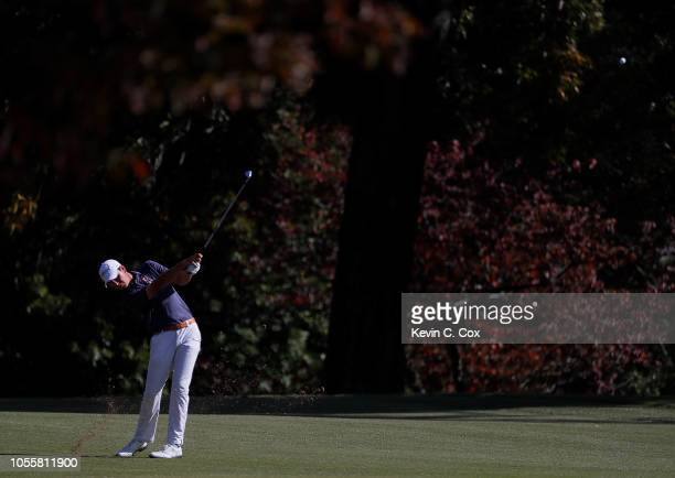 Jovan Rebula of the Auburn Tigers plays a shot on the fifth hole during day three of the 2018 East Lake Cup at East Lake Golf Club on October 31 2018...