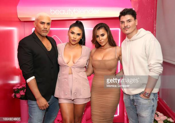 Jovan Rosario Griselda Martinez Amra Olevic and Mario Dedivanovic join beautyblender to celebrate the launch of beautyblender BOUNCE Liquid Whip...