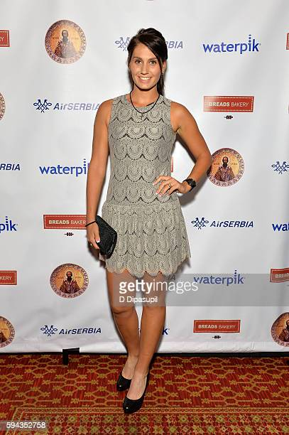 Jovana Jaksic attends the Save Saint Sava Benefit at the New York Athletic Club on August 22 2016 in New York City