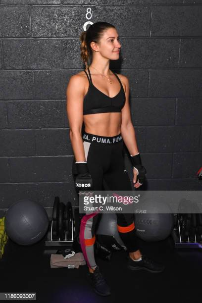 Jovana Rajacic takes part in a charity KOBOX class at KOBOX Marylebone raising funds for Rainbow Railroad a charity which helps members of the LGBTQ...