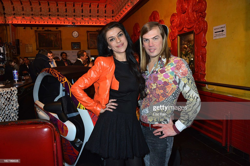 Jovanka Sopalovic (L) and Christophe GuillarmeÊattend the Christophe Guillarme Fall/Winter 2013 Ready-to-Wear show as part of Paris Fashion Week on February 26, 2013 in Paris, France. Photo by Foc Kan/WireImage)