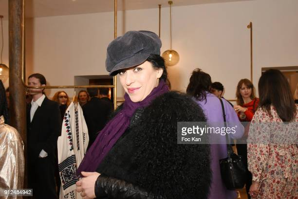 Jovanka Sopalovic attends Antik Batik Party at Antik Batik Shop Rue des Minimes on January 30 2018 in Paris France