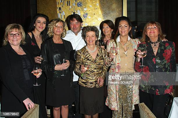 Jovanka Sopalovic Fiona Gelin Princesse Suzanne Mourousy Veronique Barre and thePrincesse Hermine de Clermont Tonnerre in Paris France on April 16...