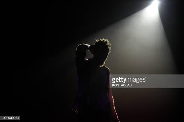 Jovanotti in concert at the Pala Resega in Switzerland