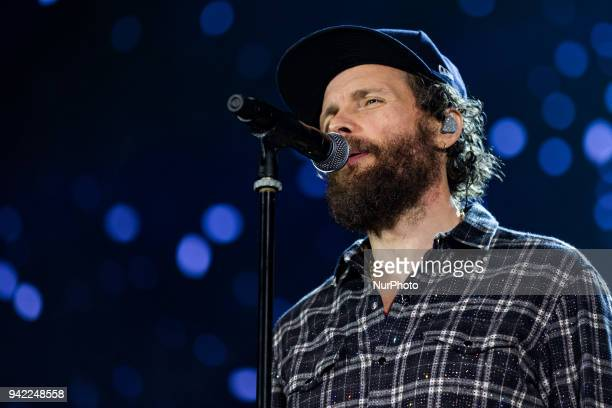 Jovanotti peforms in Turin Italy on April 4 2018 Sold out for the second of five evenings that the king of pop Lorenzo Cherubini aka Jovanotti...