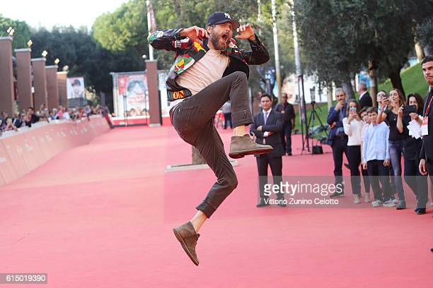 Jovanotti walks a red carpet during the 11th Rome Film Festival at Auditorium Parco Della Musica on October 16 2016 in Rome Italy