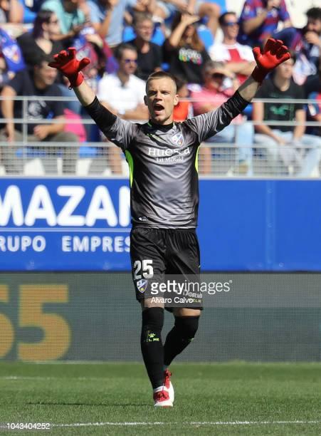 Jovanovic of SD Huesca during the La Liga match between SD Huesca and FC Girona at El Alcoraz on September 30 2018 in Huesca Spain