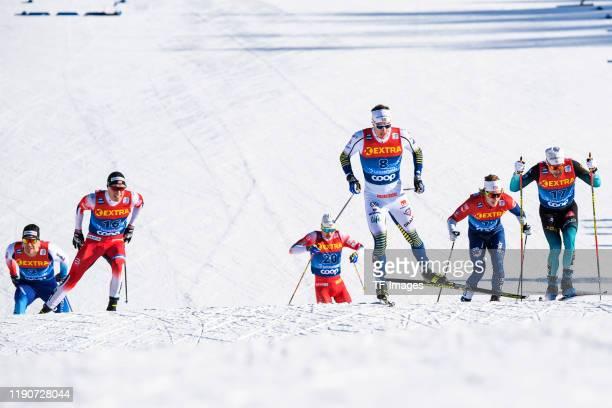 Jovian Hediger of Switzerland, Martin Loewstroem Nyenget of Norway, Simen Hegstad Krueger of Norway, Johan Haeggstroem of Sweden, James Clugnet of...