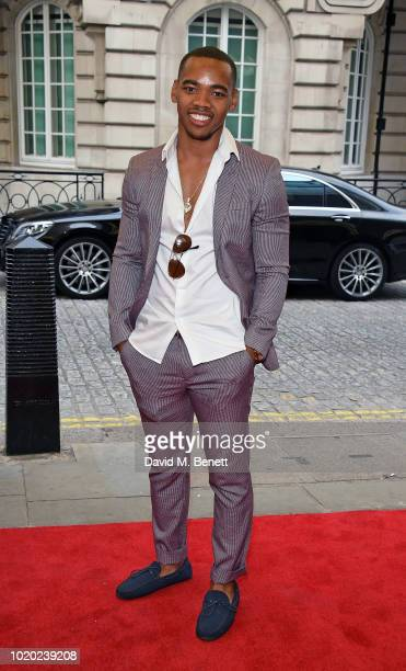 Jovian Wade attends a special screening of 'The Innocents' at The Curzon Mayfair on August 20 2018 in London England